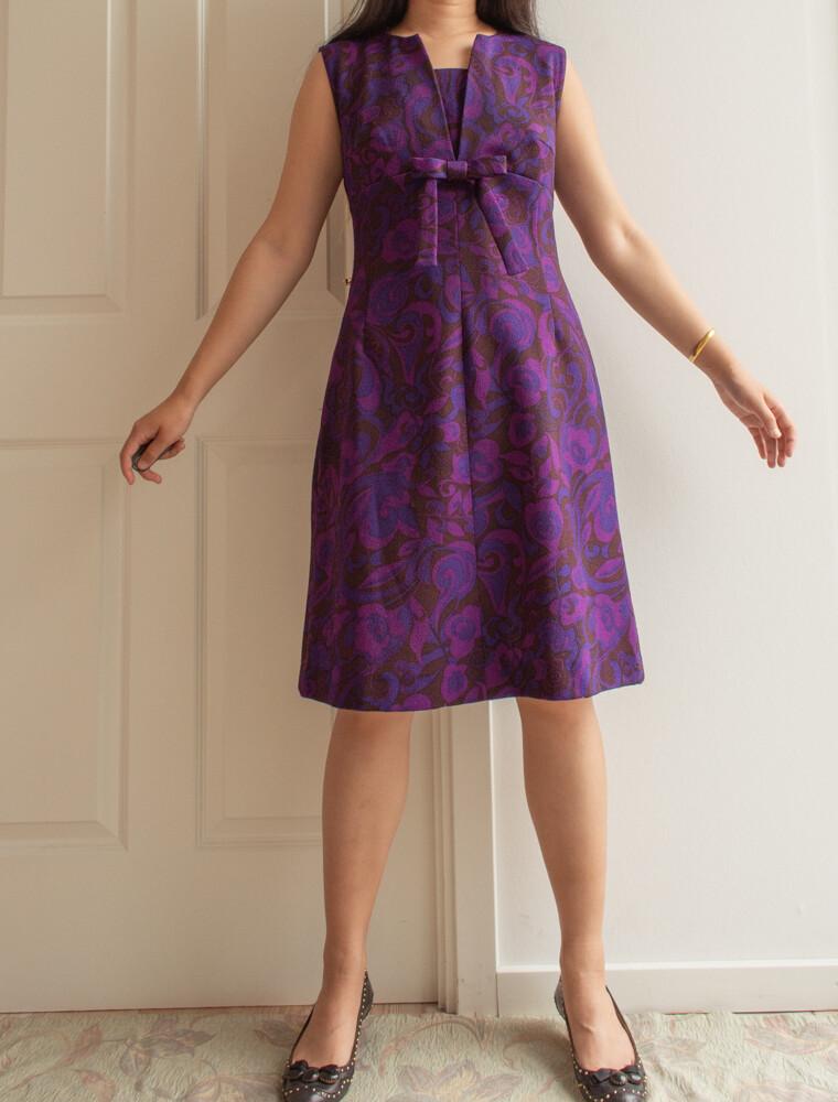 Purple 60s dress M/L