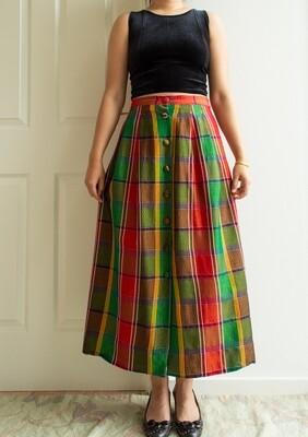 Color block skirt L