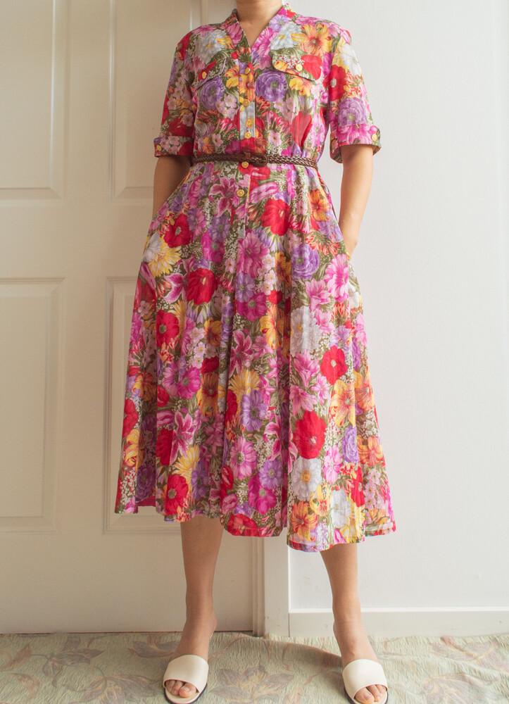 Flower dress L