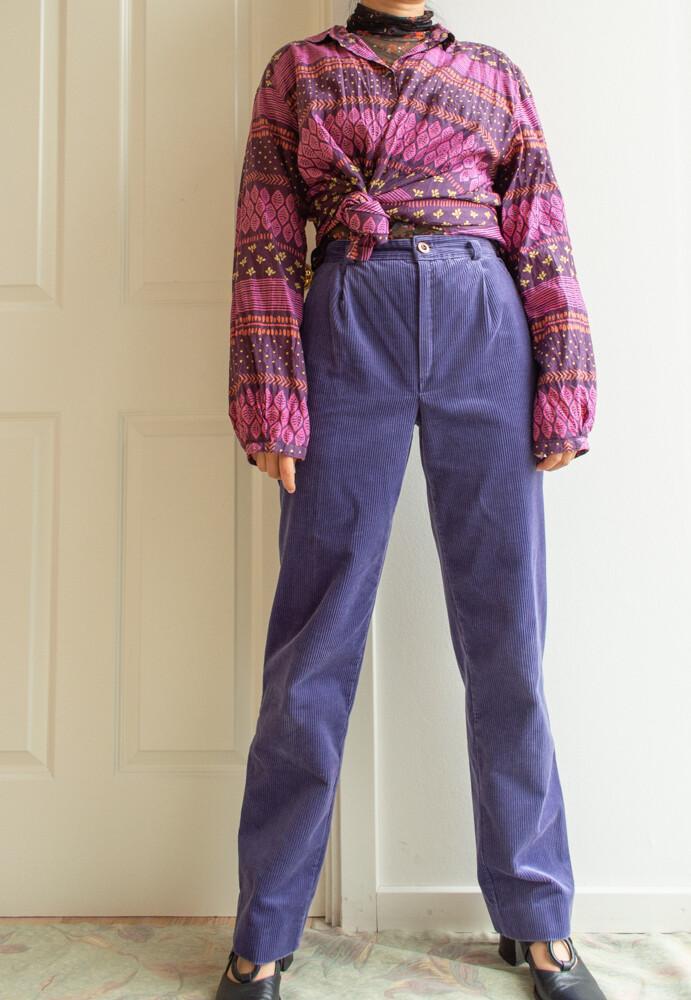 Purple velvet pants S/XS