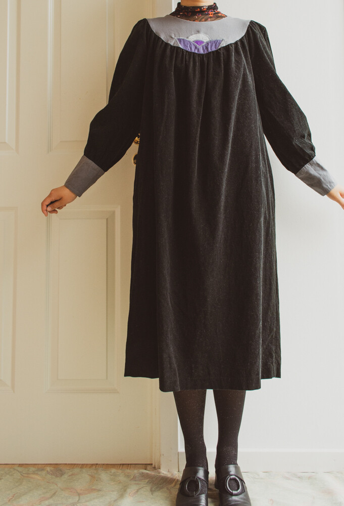 70s Klok cotton dress M