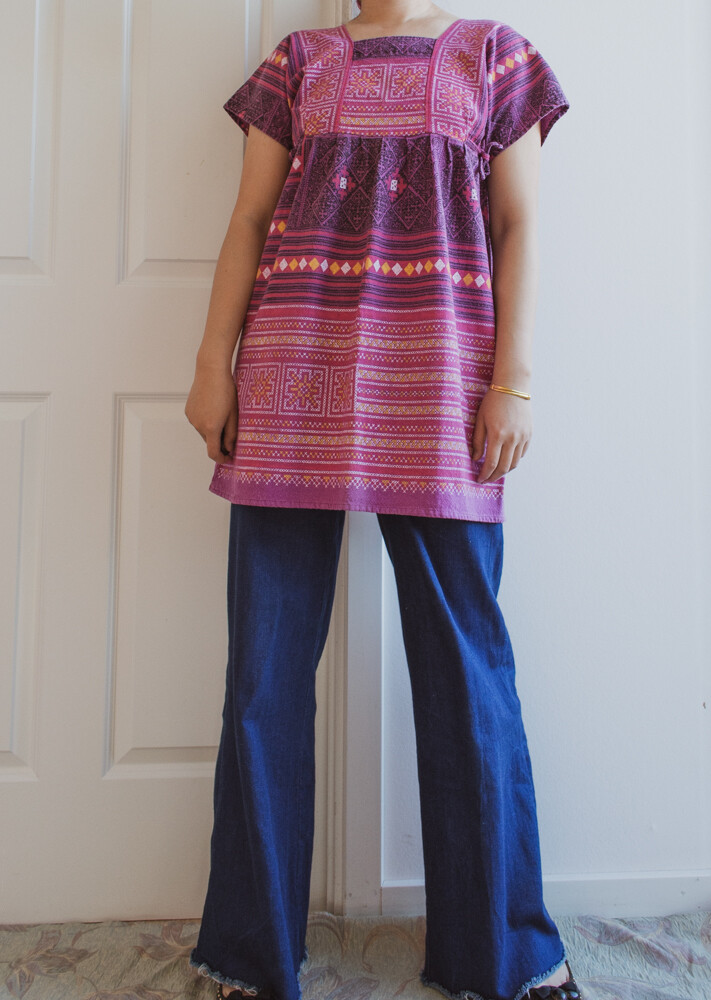 Asian pattern top S/M