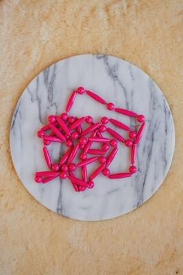 Retro pink beads
