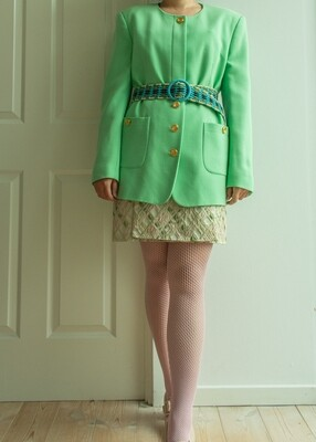 Pastel green Escada wool blazer L