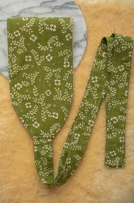 Green flower Remade belt