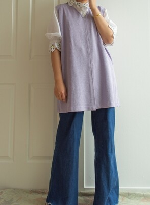 Pastel purple vest oversize/XL