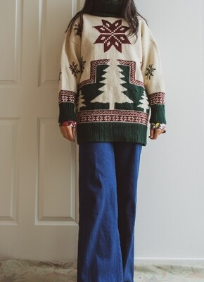 Vintage wool sweater M