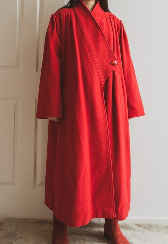 THE red wool coat L