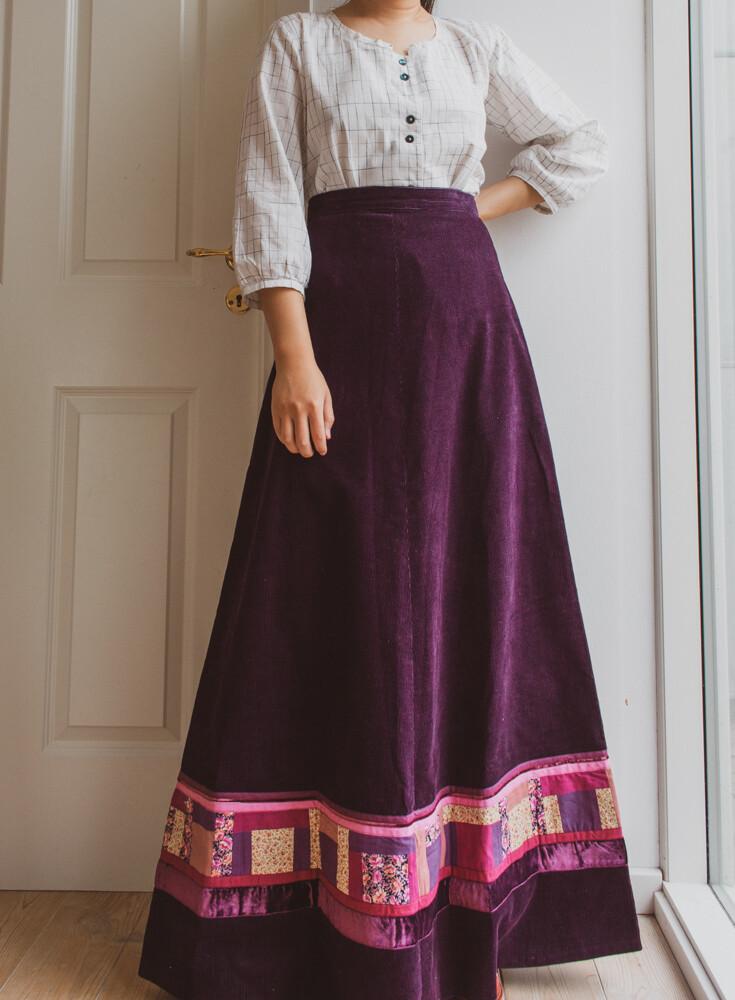 Heavy velvet patchwork skirt M/S