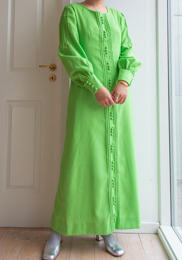 Rich green maxi dress L