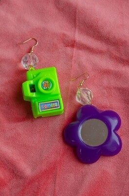 Cute camera&mirror earring