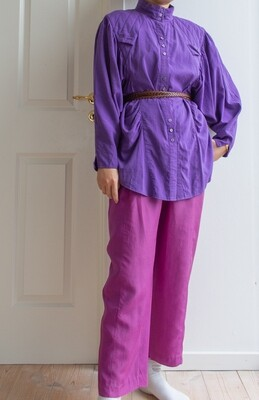 Purple batwing blouse L/XL