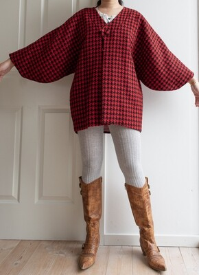 Japanese red kimono coat