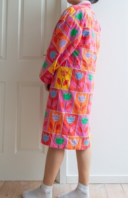 Colorful flower bathrobe M/L