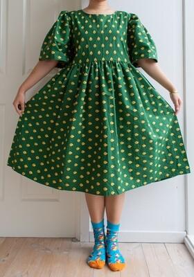 Remade dress Elisabeth - dark green M/L