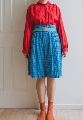 Red retro blouse L/XL