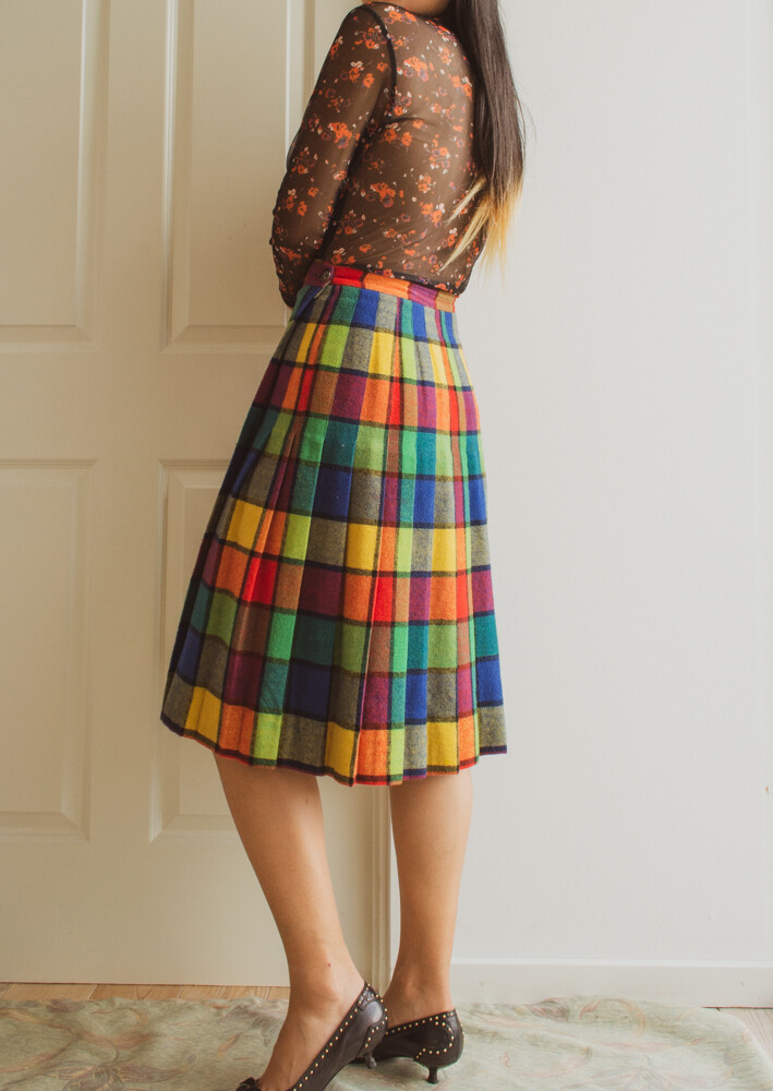 Candy color block skirt