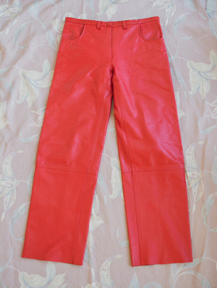 Red leather pants XS/S