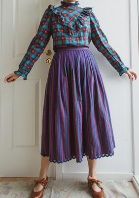 Purple cotton skirt S