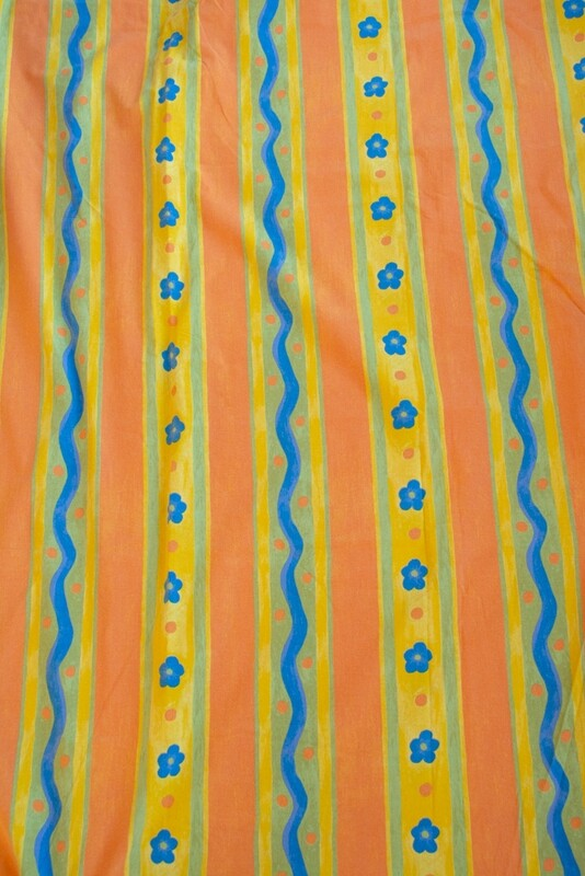 Remade-to-order fabric orange flower