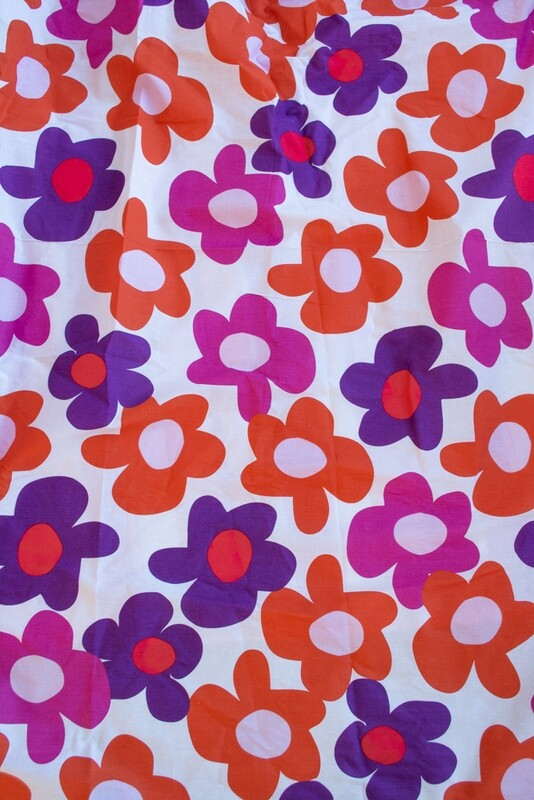 Remade-to-order flower power fabric