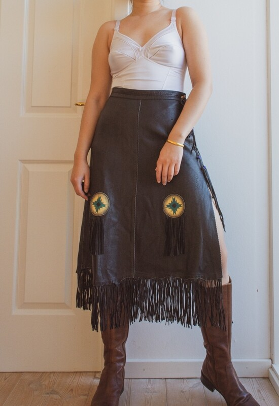 Soft sheep leather skirt S/M