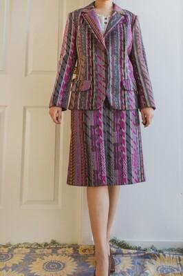 Vintage Christian Lacroix lambswool suit L