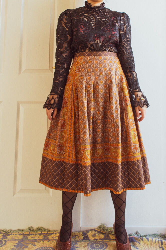 Exotic quilted skirt M/L