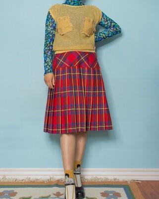 Yellow knit vest S/M