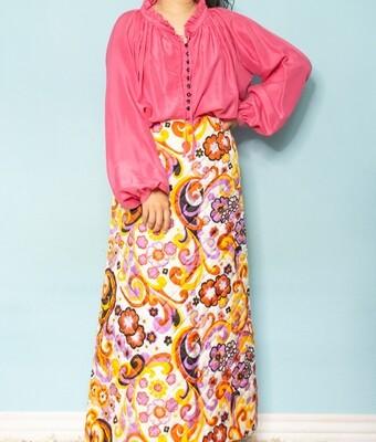 Pink silk blouse L/XL