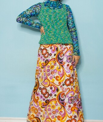 Green knit vest S/M
