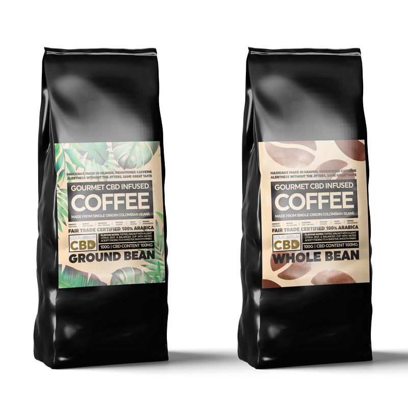 Equilibrium CBD Infused Coffee - 100g (100mg CBD)