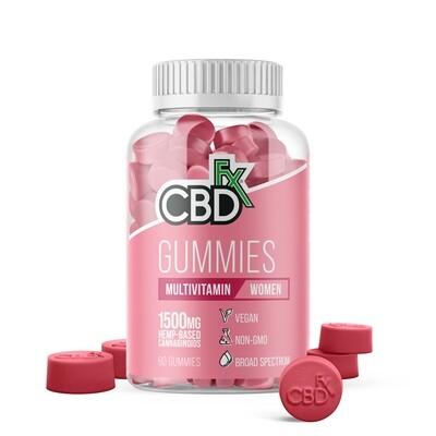 CBD Gummies with Multivitamins for Women 1500mg (jar of 60)