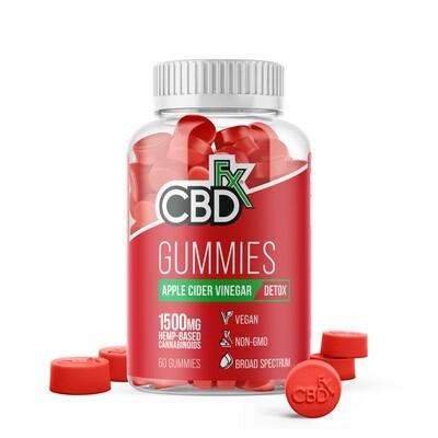 CBD Gummies with Apple Cider Vinegar 1500mg (jar of 60)