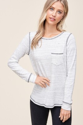 REV STITCHEC KNIT TOP