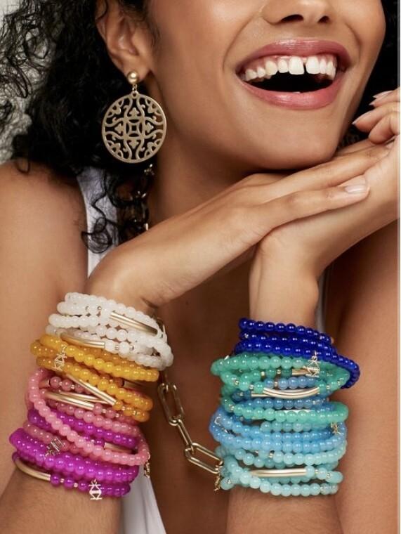Lucite wrap bracelet