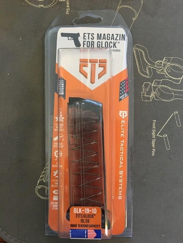 ETS GLK-19-10 9mm, 10RD Magazine