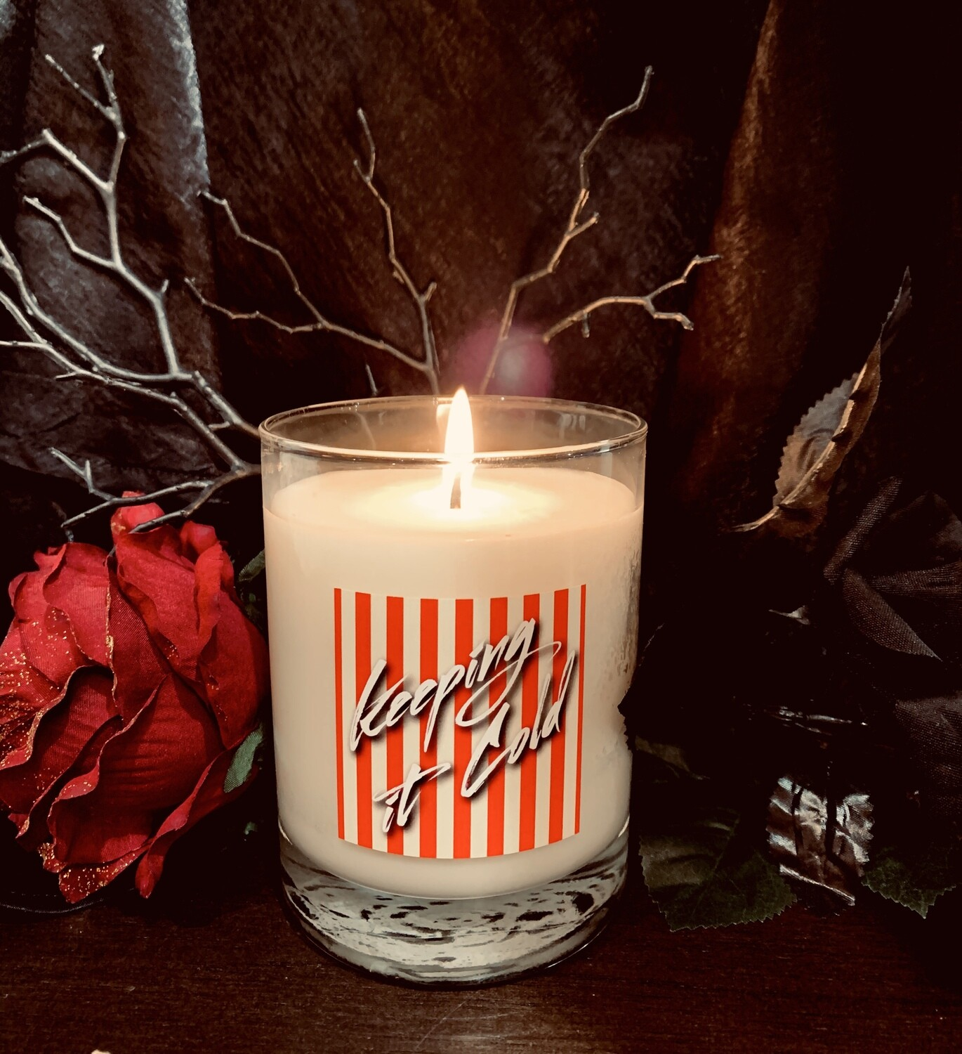 """14 oz. """"Keeping it Cold"""" Glass Candle"""