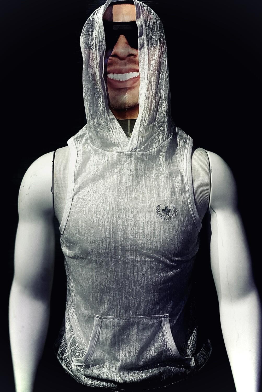 Andrew Christain Hoodie (Sheer White)