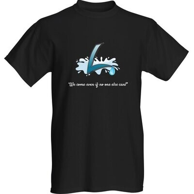 """Luber """"we come"""" logo t-shirt"""