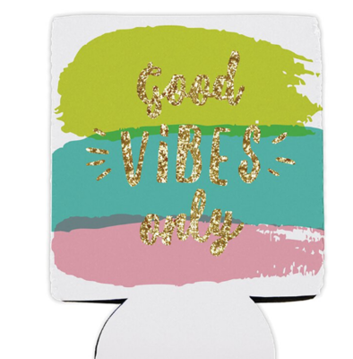 Good Vibes Only Drink Holder with Pocket
