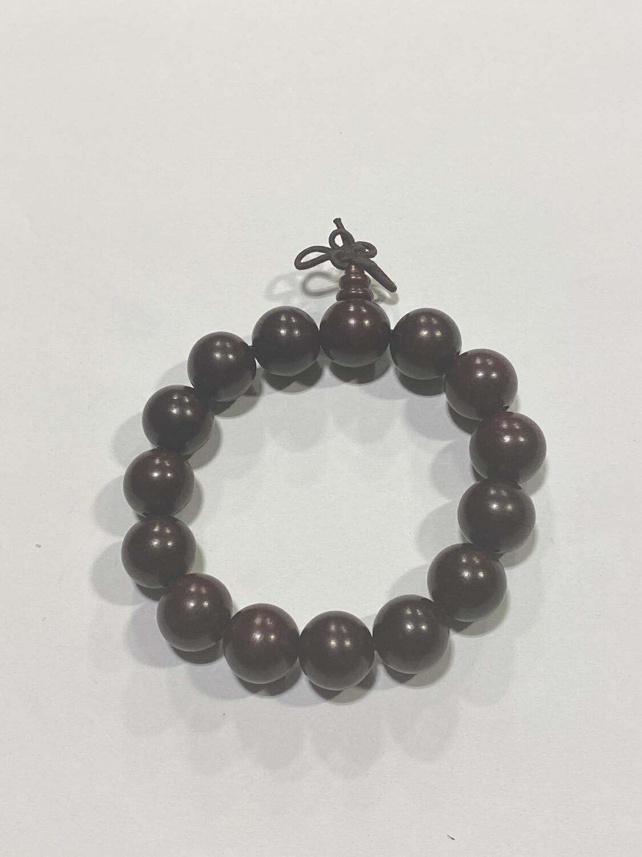 Buddha Beads - 1cm Maroon