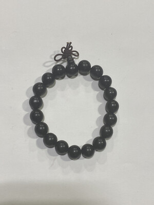 Buddha Beads - .5cm Black Brown