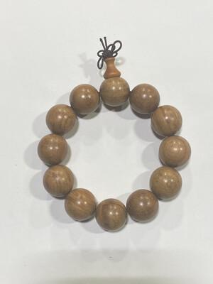 Buddha Beads - 2cm Pear Flower Wood