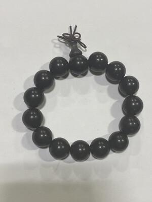 Buddha Beads - 1cm Black Brown