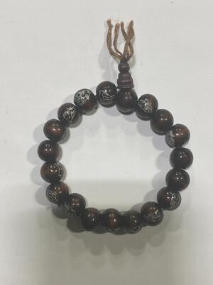 Buddha Beads - .5cm Wood Buddha Enamel