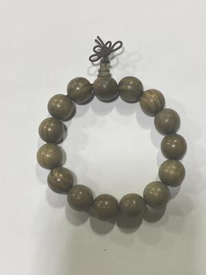 Buddha Beads - 1cm Marble Wood