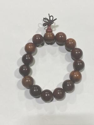 Buddha Beads - 1cm Red Wood