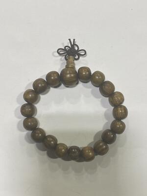 Buddha Beads - .5cm  Marble Wood Buddha Engravings