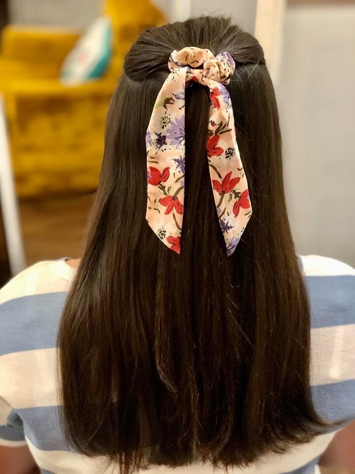 28241 Floral Scrunchie & Mini Scarf